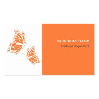 Simple moderno elegante del naranja de la mariposa tarjetas de visita