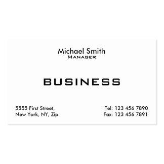 Simple moderno elegante llano blanco profesional tarjetas de visita