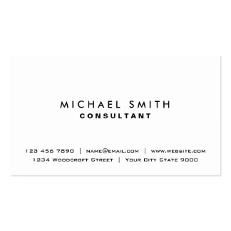 Simple moderno elegante llano profesional blanco tarjetas de visita