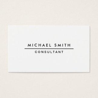 Simple moderno elegante profesional blanco llano tarjeta de negocios