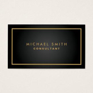 Simple moderno llano negro elegante profesional tarjetas de visita