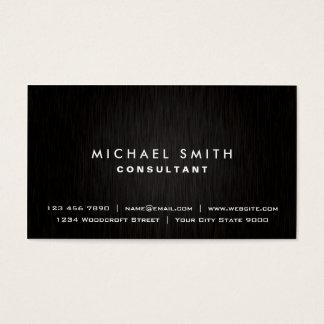 Simple moderno negro elegante llano profesional tarjetas de visita
