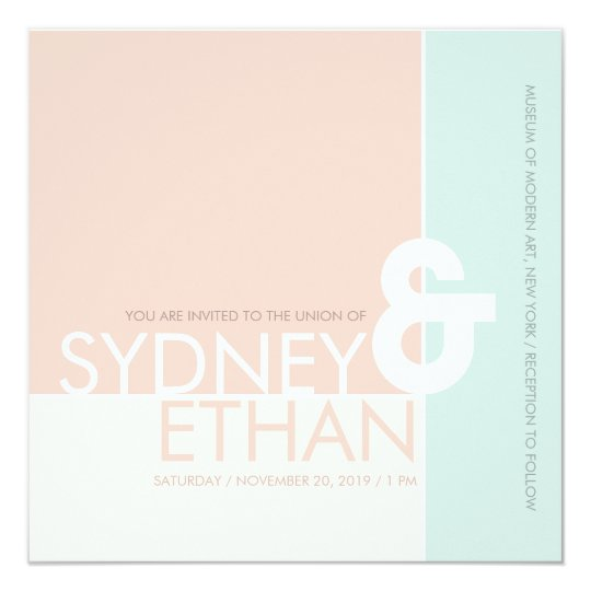 Simple Mondrian Minimalist Modern Wedding Invite