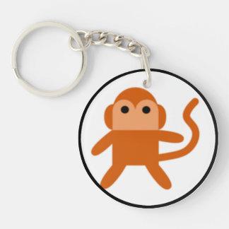 Simple monkey Single-Sided round acrylic keychain