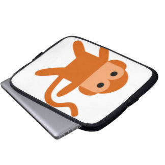 Simple monkey laptop sleeve