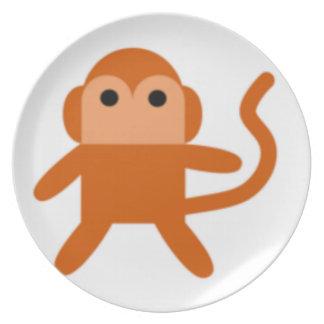 Simple monkey melamine plate