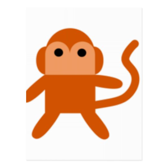 Simple monkey postcard