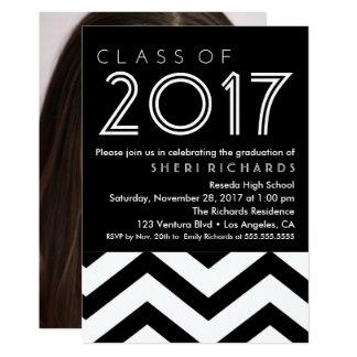 Simple Monochrome Graduation Party Invitation