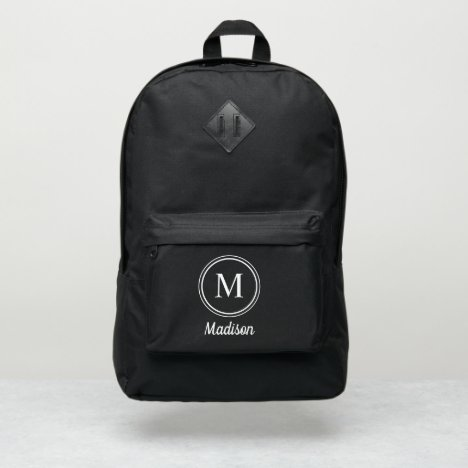 Simple Monogram and Name Custom Port Authority® Backpack