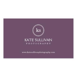 Simple Monogram Business Card Business Card Templates