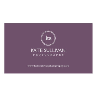 Simple Monogram Business Card - Groupon Business Card Template