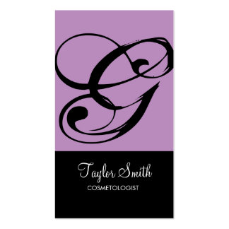 Simple Monogram Business Card (Lavender)