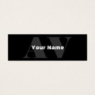 Simple Monogram Business Cards