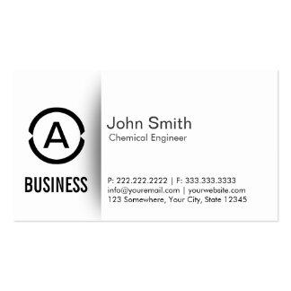 Simple Monogram Chemical Engineer Business Card