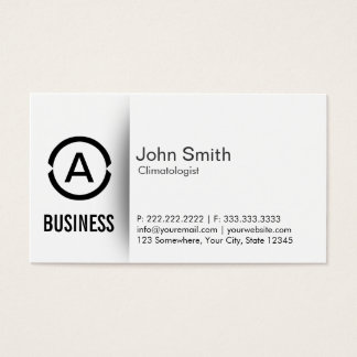 Simple Monogram Climatologist Business Card