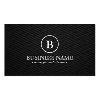 Simple Monogram Financial Advisor Business Card