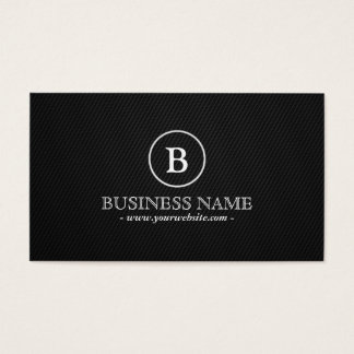 Simple Monogram Financial Advisor Business Card