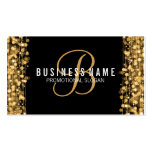 Simple Monogram Gold Lights & Sparkles Double-Sided Standard Business Cards (Pack Of 100)