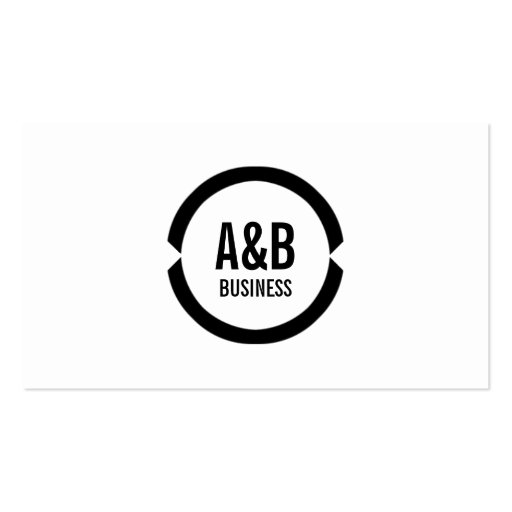 Simple Monogram Meteorological Business Card