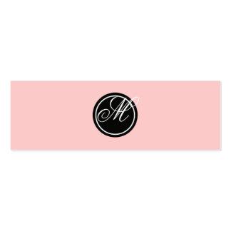 Simple Monogram Mini Business Card