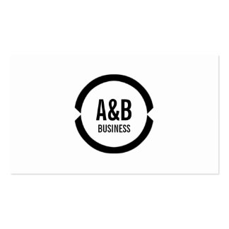 Simple Monogram Political Scientist Business Card