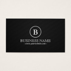 Simple Monogram Real Estate Broker Business Card at Zazzle