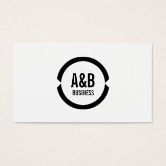 Simple Monogram Safety Engineer Business Card