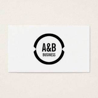 Simple Monogram Talent Agent Business Card