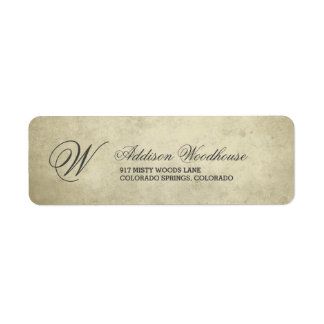 Simple Monogram | Vintage Paper Label
