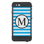 Simple Monogram with Blue Horizontal Stripes LifeProof NÜÜD iPhone 6 Case