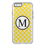 Simple Monogram with Yellow Checkerboard Incipio Feather Shine iPhone 6 Case