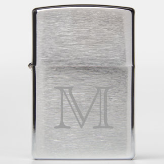 Simple Monogram Zippo Lighter