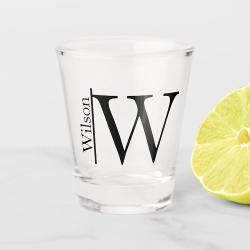 Simple Monogrammed Name Personalized Shot Glass