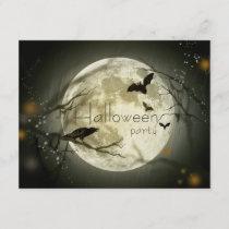 Simple Moon Halloween Party Adult Invitations