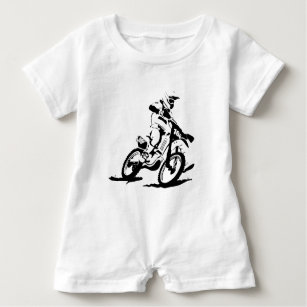 dirt bike baby clothes shoes zazzle 200Cc Pit Bike simple motorcross bike and rider baby romper