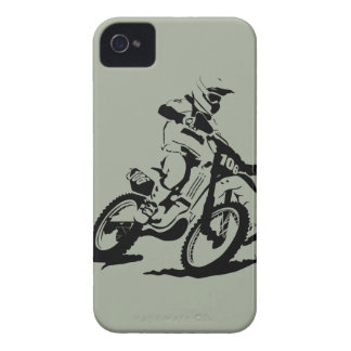Simple Motorcross Bike and Rider iPhone 4 Case-Mate Case