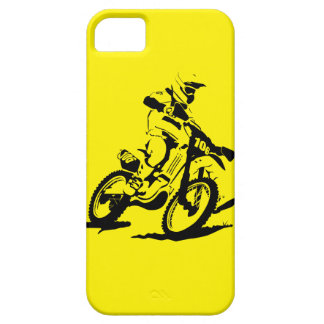Simple Motorcross Bike and Rider iPhone SE/5/5s Case