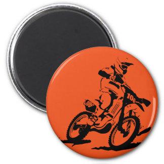 Simple Motorcross Bike and Rider Magnet