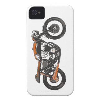 Simple Motorcycle - Cafe Racer 750 Drawing iPhone 4 Covers