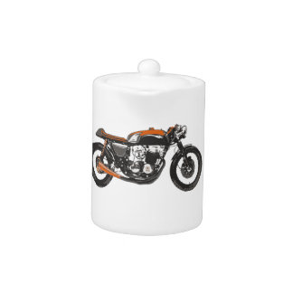 Simple Motorcycle - Cafe Racer 750 Drawing Teapot
