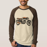 Simple Motorcycle - Cafe Racer Drawing T Shirt