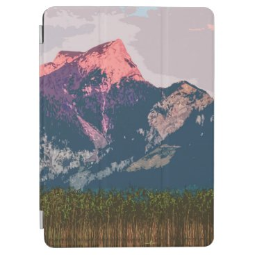 Simple Mountain Landscape Artwork   iPad Air Case