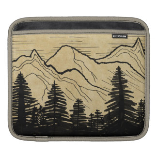 Simple Mountains and Forest iPad Sleeve