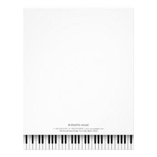 Simple Musical Piano Black & White Keys Letterhead