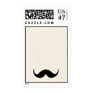 Simple mustache deluxe postage stamp