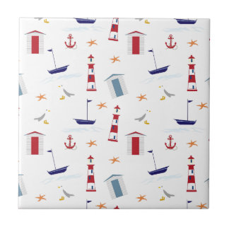 Simple Nautical Pattern Tile
