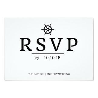 Simple Nautical Wedding RSVP Card