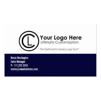 Simple Navy Blue Business Cards
