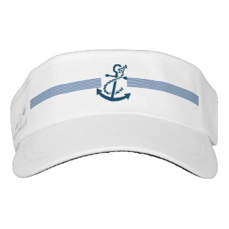 Simple Navy Blue Nautical Boat Anchor Illustration Visor