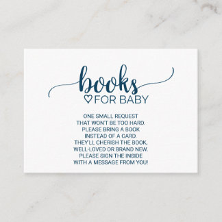 Simple Navy Calligraphy Book Request Insert